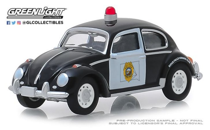 HOT PURSUIT SERIE 31 VW FUSCA SIOUX FALLS DAKOTA DO SUL 1/64