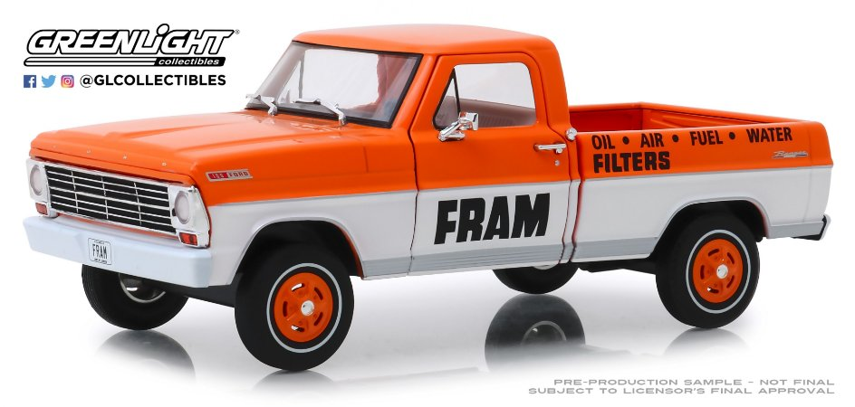 FORD F-100 FRAM OIL FILTERS RUNNING ON EMPTY 1/24