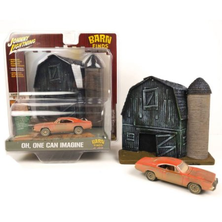 1:64 JOHNNY LIGHTNING BARN AND FINDS LOST LEGENDS DIORAMA