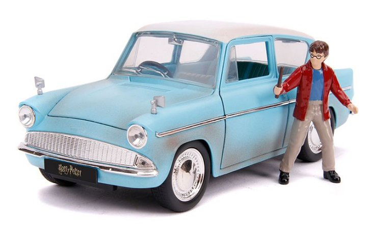 1:24 1959 FORD ANGLIA HARRY POTTER COM BONECO