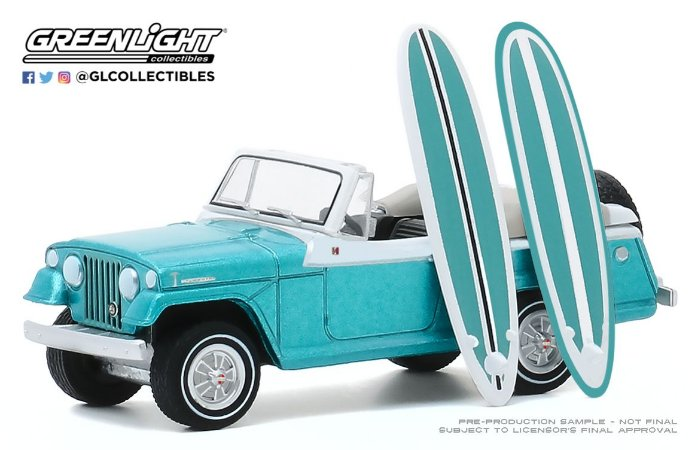1:64 THE HOBBY SHOP SERIE 9 1968 KAISER JEEP JEEPSTER COM PRANCHA