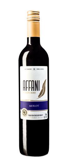 Vinho Affani Fino Tinto Seco Merlot  750ml