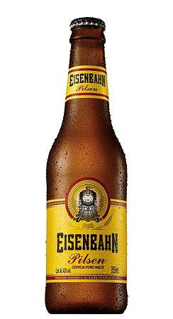 Cerveja Eisenbahn Pilsen Long Neck 355ml cx 12unidades