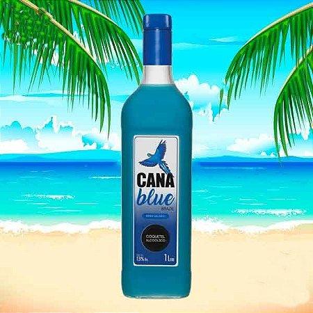 Coquetel Cana Blue - Drink suave pronto para beber
