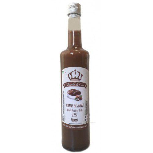 Licor de cachaça sabor creme de avelã - Rainha da cana - 700 ml