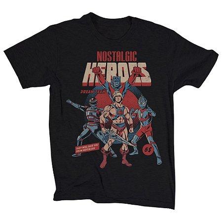 Camiseta Unissex Nostalgic Heroes