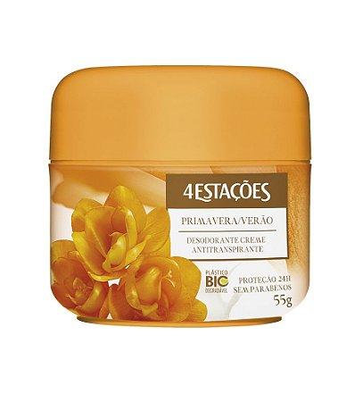 Desodorante Creme Pote 4 Estações Primavera/Verão 55g