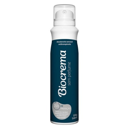 Desodorante Aerossol Biocrema Sem Perfume 168ml