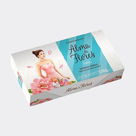 Estojo 3 Sabonetes Alma de Flores Herbal 390g