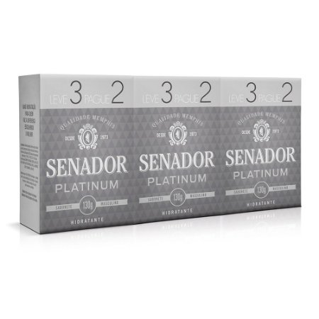 Sabonete Senador Platinum Leve 3 Pague 2