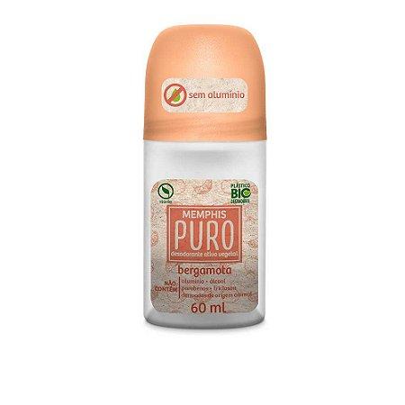 Desodorante Roll On Puro Sem Alumínio Bergamota