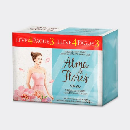 Sabonete Alma de Flores Herbal Leve 4 Pague 3