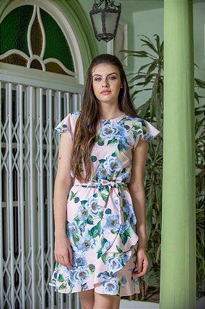 Vestido Kedy Closed Garden Floral Babado