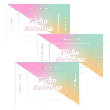 Kit Ficha Rainbow 4x6 100 unidades c/3