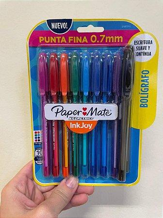 Caneta Kilometrica 0.7 Colors c/ 10 Paper Mate