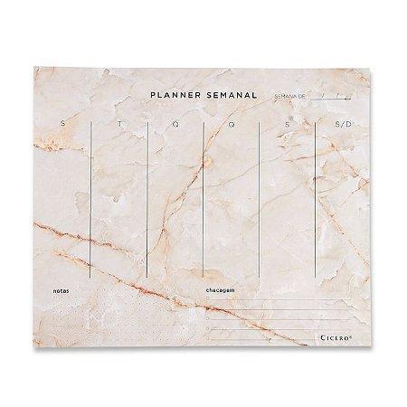 Bloco Planner Semanal Minerais Cicero