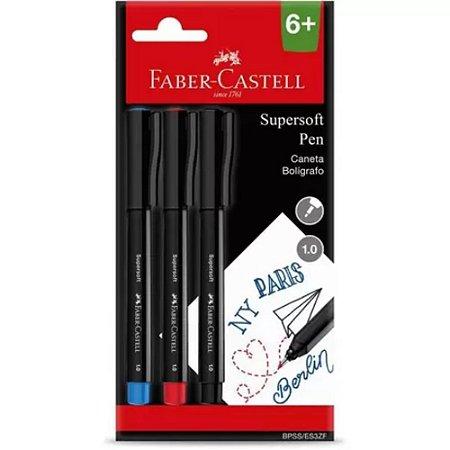 Estojo Caneta Supersoft 1.0 c/3 Faber-Castell