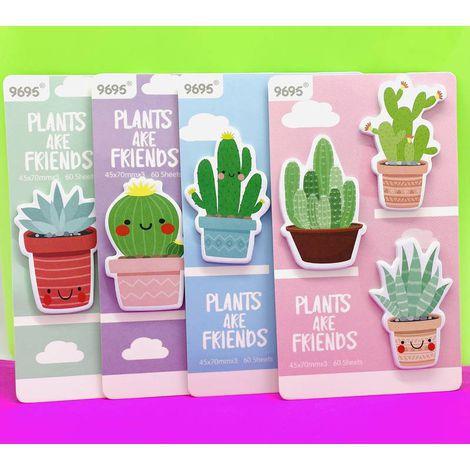 Bloco Adesivado Post It Cacto Plants