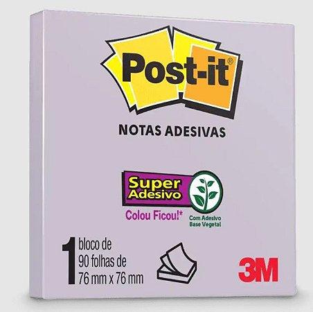 Bloco Adesivo Post-it 654 Lilac 76x76mm 90 Folhas