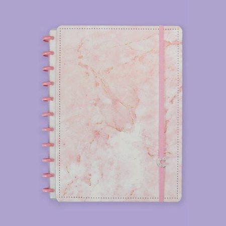 Caderno Inteligente Pink Marble Dream 80 Folhas