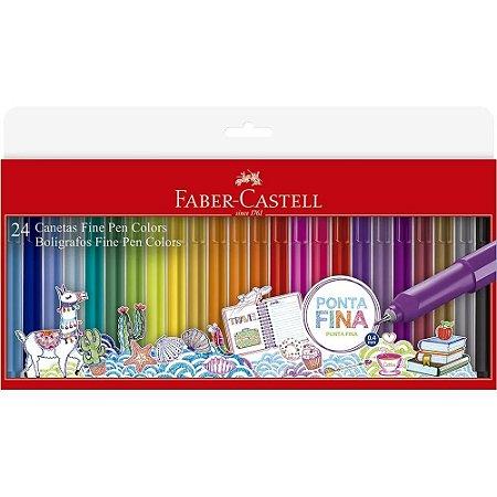 Caneta Fine Pen 0.4mm 24 cores Faber-Castell