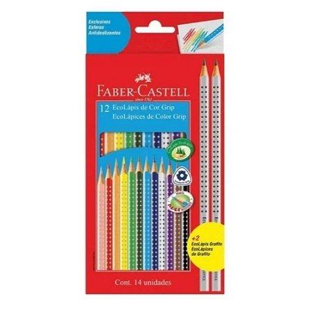 Lápis de Cor Faber-Castell Grip 12 Cores