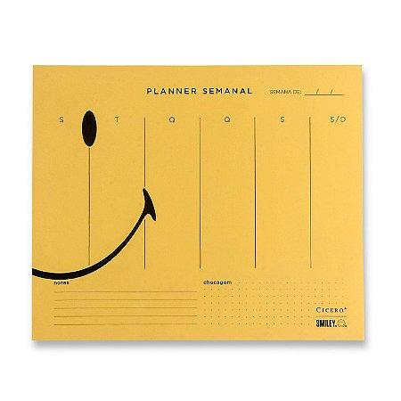 Bloco Planner Semanal Smiley Cicero