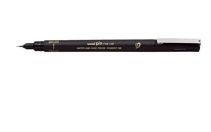 Brush Pen Uni Pin Extra fine Preta BR-500EF