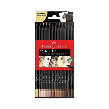 Lápis de Cor SuperSoft 12 Cores Tons de Pele Faber-castell