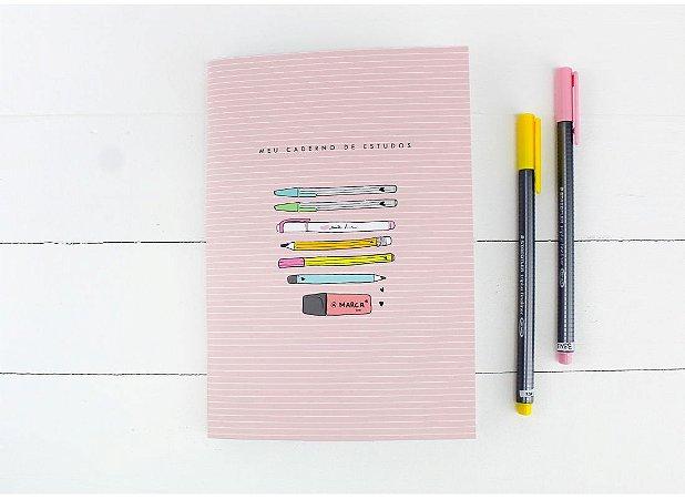 Caderno Flex Estudos 40 folhas 14x20cm Papelote