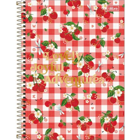 Caderno Universitário 10M Little Garden 160 Folhas Tilibra