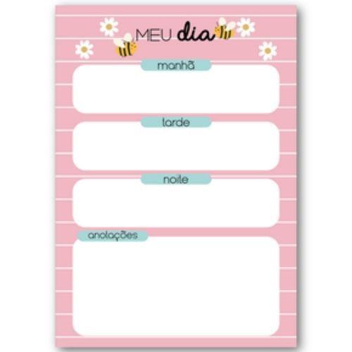 Bloco planner diario Hola Bee