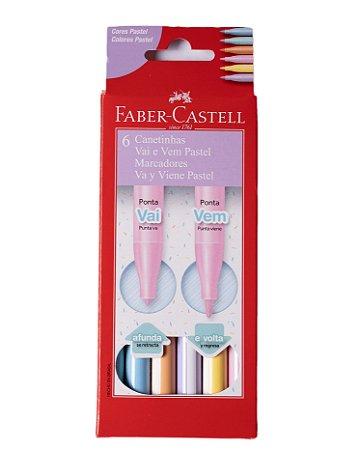 Hidrocor Vai e Vem Faber-Castel Pastel 6 cores