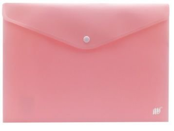 Envelope Plástico com Botão tamanho Ofício Cor Pastel YES