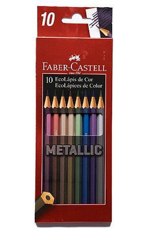 Lápis de Cor Metallic Faber-Castell 10 cores