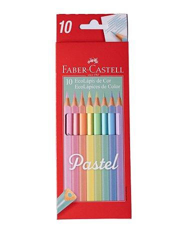 Lápis de Cor Pastel Faber-Castell 10 cores