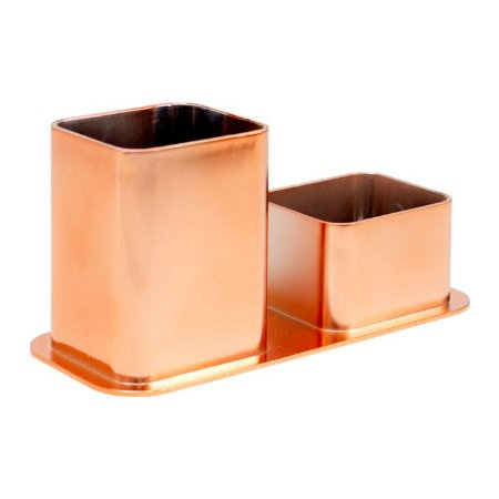 Porta Canetas/Clips Dellocolor Rosê Gold 3030.RG