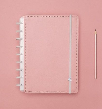 Caderno Inteligente Médio Rose Pastel 80 Folhas