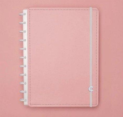 Caderno Inteligente Grande Rose Pastel 80 Folhas