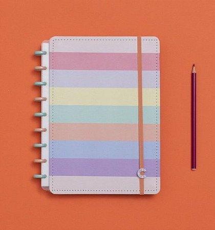 Caderno Inteligente Médio Arco-Íris 80 Folhas