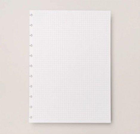 Refil Caderno Inteligente Grande Quadriculado 90g 50 Folhas CIRG4025