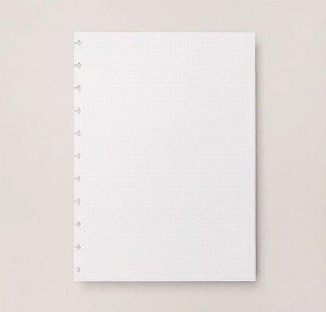 Refil Caderno Inteligente Grande Pontilhado 120g 30 Folhas CIRG4006