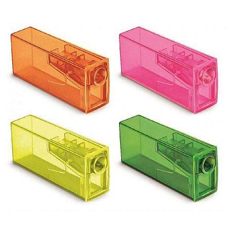 Apontador Com Depósito Neon Faber-Castell