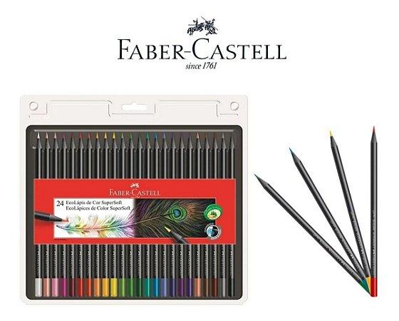 Lápis de Cor Faber-Castell SuperSoft 24 Cores
