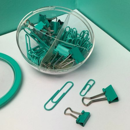 Kit Clips e Prendedores de Papel Verde Tilibra