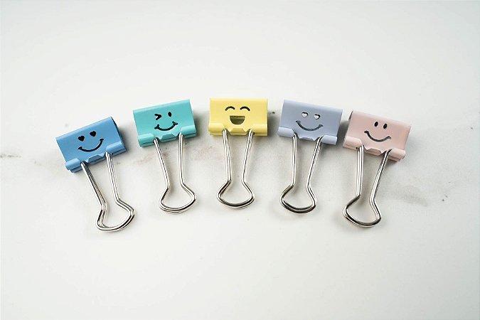 Prendedor de Papel Emoji  Cis 19mm c/ 8un