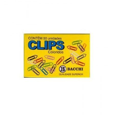 Clips Colorido 6/0 Bacchi caixa com 50 un