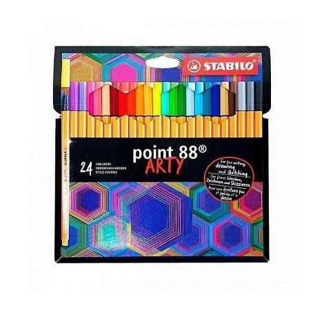 Caneta Stabilo Point 88 Art 24 cores