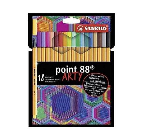 Caneta Stabilo Point 88 Art 18 cores