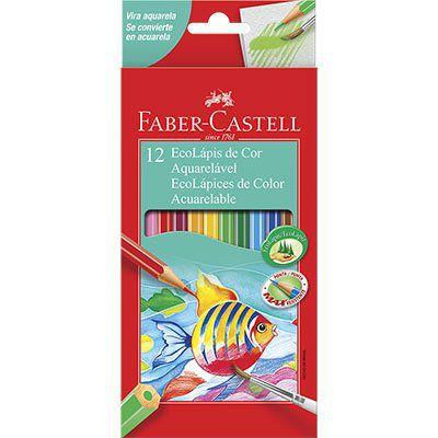 Lápis de Cor Faber-Castell Aquarelável 12 Cores